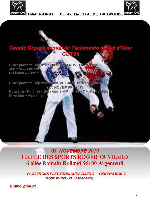 Championnat Départemental et Critérium Départemental CDT 95